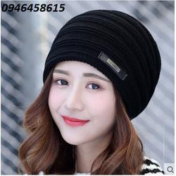 nón len nữ, nón chụp đầu Korean thời trang model mới nhất HNNL24