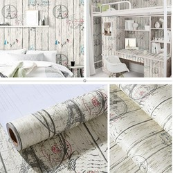 Combo 5m giấy dán tường sọc gỗ 1 BINBIN DTL63