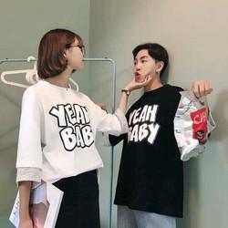 ÁO THUN COUPLE  CHỮ CỰC XINH IU