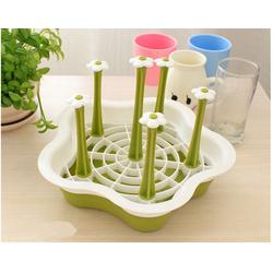 [HCM, sản phẩm được ưa thích] Khay úp ly nhựa 6 nhánh hình hoa