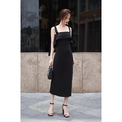 Chuyên sỉ - Váy đen hai dây ôm body tinh tế sang trọng
