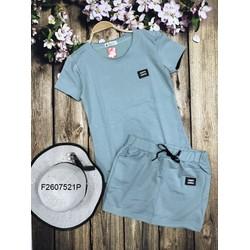 Set bộ thun áo tag chân váy hàng thiết kế - MS: S260705 Gs: 125k
