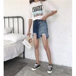 chân váy bò phối màu Mã: VN564