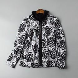 Áo ren lót nhung hoa hồng đen