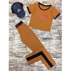 Set bộ thun chữ ON quần dài hàng thiết kế - MS: S260703 GS: 140k