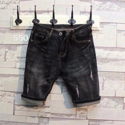 Quần Jeans Short Nam Rách Thời Trang 550
