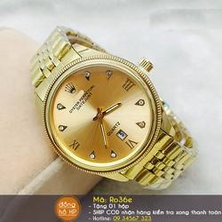 Đồng hồ nam viền vàng cao cấp