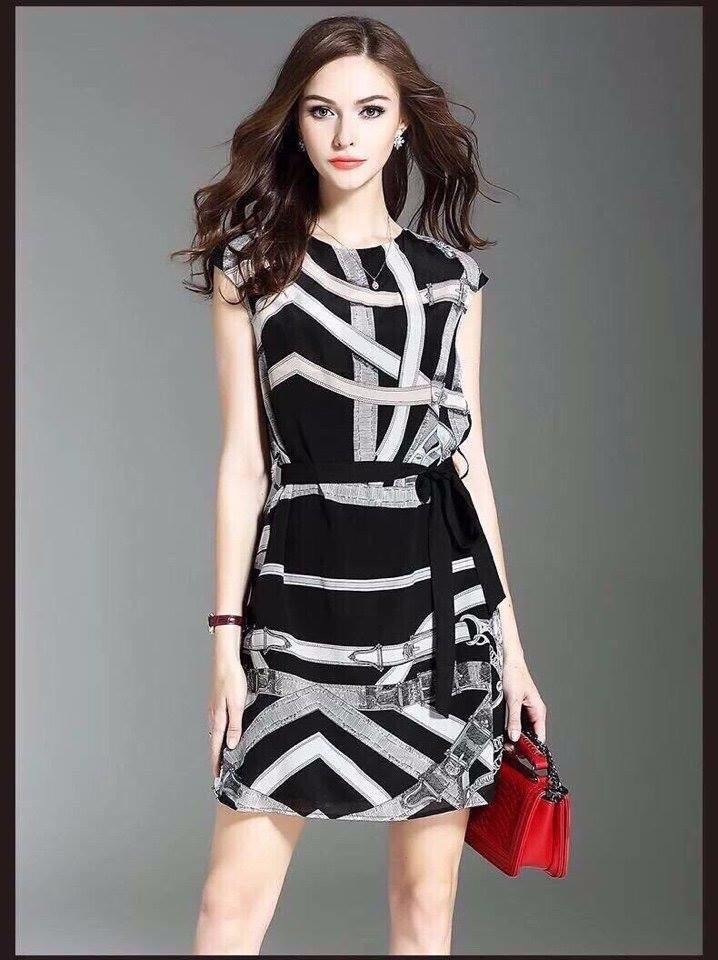 Đầm suông họa tiết 3D mới 2