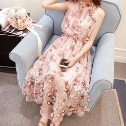 Đầm maxi voan hoa nổi cực xinh DMX5059 - Hàng nhập loại 1