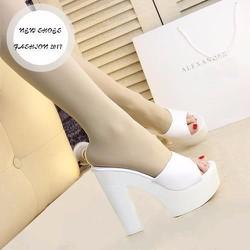 Giày cao gót hở gót 12 cm