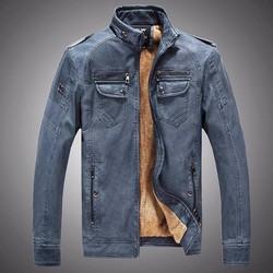 Áo khoác da nam lót lông phong cách MZ388