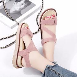 Giày Sandal Nữ dễ thương phong cách quai chéo Hàn Quốc - XS0447