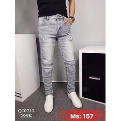 Quần Jeans Nam Rách Thời Trang Cao Cấp 157