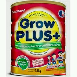 sữa bột khuyến mãi mở shop Nuti Grow plus đỏ hộp 1500g date mới