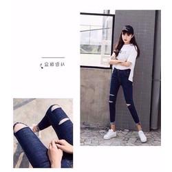 quần jean rách xăn lai