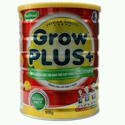 sữa bột khuyến mãi mở hàng Nuti Grow plus đỏ hộp 900g date mới