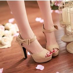 Giày cao gót đính nơ xinh xắn CK150