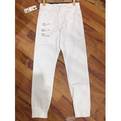 Quần jean rách nam màu trắng, thời trang nam đẳng cấp,thời thượng