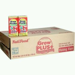 sữa bột pha khuyến mãi mở shop Nuti Grow plus đỏ hộp 180 ml date mới