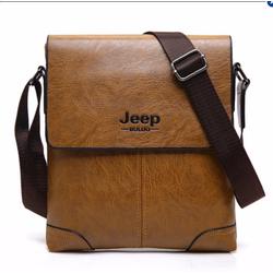Túi đeo chéo nam tính đựng Ipad Jeep Màu Nâu