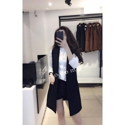 Set áo sơ mi trắng+ quần short + áo khoác phong cách