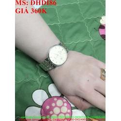 Đồng hồ nam đeo tay dây inox có hiển thị ngày sành điệu DHDI86