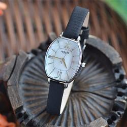 Đồng hồ nữ JULIUS Hàn Quốc mặt Ovan JU1160 Đen