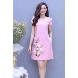 Đầm suông nữ in hoa HN11903