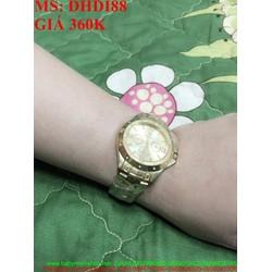 Đồng hồ nam đeo tay dây inox cao cấp màu vàng sang trọng DHDI88