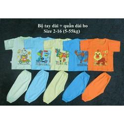 Set 5 bộ tay dài quần dài màu size 10