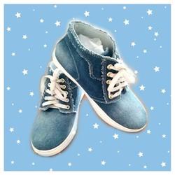 Giày bánh mì nữ vải jean - boot