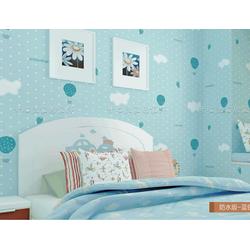 giấy dán tường khinh khí cầu xanh