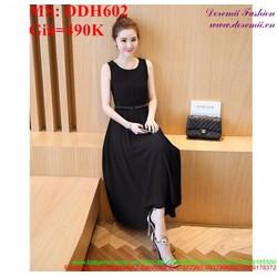 Đầm dự tiệc sát nách phom xòe xinh đẹp và thời trang DDH602