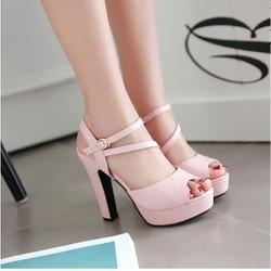 giày cao gót dây chéo sang chảnh