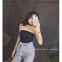 Set áo cup ngực + quần sọc