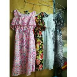 Đầm Maxi voan hoa 2 lớp