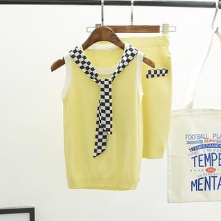 Set chân váy và áo nữ sinh màu vàng - S8EXZ thumbnail