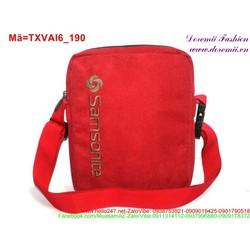 Túi đeo ipad vải bố sắc đỏ nổi bật sành điệu TXVAI6