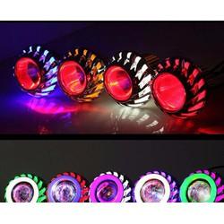 Đèn Pha Led Projector Lens H-09 Gương Cầu Lốc Xoáy Cho Xe Máy
