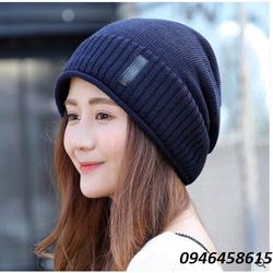 nón len nữ, nón chụp đầu Simple model Korean mới nhất HNNl81