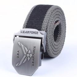 Thắt lưng - dây nịt thể thao vải du khóa U.S.AIRFORCE dây phối