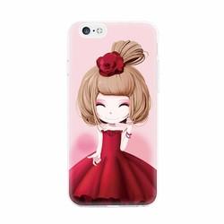 Ốp lưng hình cô bé váy đỏ iphone 5-5s-5 se-6-6s-6 plus-6s plus-7