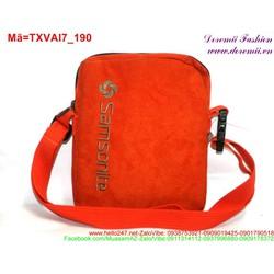 Túi đeo ipad vải bố màu cam thời trang sành điệu TXVAI7