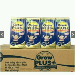 sữa bột pha khuyến mãi mở shop Nuti Grow plus xanh hộp 180ml date mới