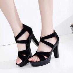 giày cao gót quai chéo thời trang