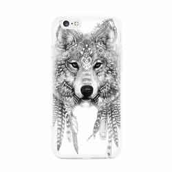 Ốp lưng hình sói bạc xám iphone 5-5s-6-6s-6 plus-6s plus-7 plus