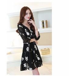 Đầm xòe công sở phong cách sao Hàn