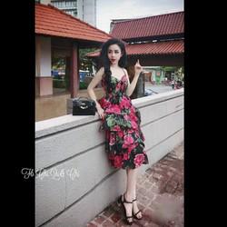 Đầm maxi hoa cao cấp giá sỉ