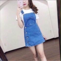 Yếm váy jean không kèm áo