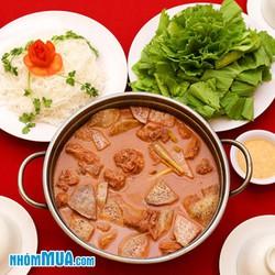 Lẩu vịt nấu chao 12kg siêu ngon cho 4 người - NH Sài Gòn Nhỏ